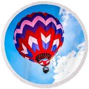 Champion Hot Air Balloon Round Beach Towel