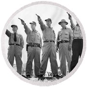 Champion Police Shooters Round Beach Towel