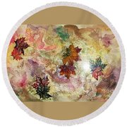Change In You II Round Beach Towel