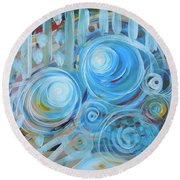 Changing Energies Round Beach Towel