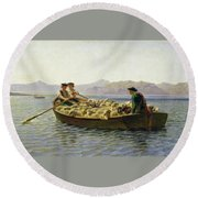 Changing Of Meadow Round Beach Towel