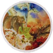Changing Of The Seasons - Square Format Round Beach Towel