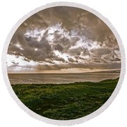 Changing Sky Round Beach Towel