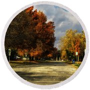 Changing To Fall Colors In Dwight Il Round Beach Towel