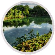 Chankanaab Mexico Lagoon Round Beach Towel