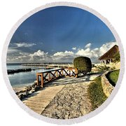 Chankanaab Walkway Round Beach Towel