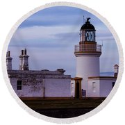 Chanonry Point Lighthouse Round Beach Towel