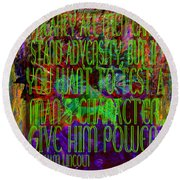 Chaos And Power Round Beach Towel