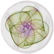Chaoscope Abstract 3d Stereo - Use Red-cyan Filtered 3d Glasses Round Beach Towel