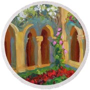 Chapel At St. Remy Round Beach Towel