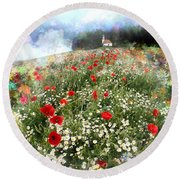 Chapel Of Colors Round Beach Towel