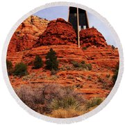 Chapel Of The Holy Cross 3 Round Beach Towel