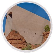 Chapel Of The Holy Cross Sedona Az Side Round Beach Towel
