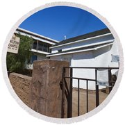Chapel Of The Immaculate Conception Old Town San Diego Round Beach Towel
