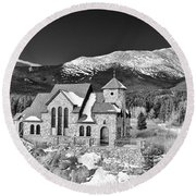 Chapel On The Rock Round Beach Towel
