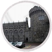 Chapel Royal And Record Tower - Dublin Castle Round Beach Towel