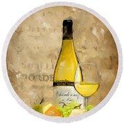 Chardonnay Iv Round Beach Towel