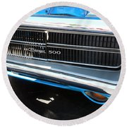 Charger 500 Front Grill And Emblem Round Beach Towel