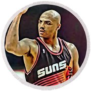 Charles Barkley Round Beach Towel