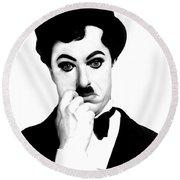 Charles Chaplin Round Beach Towel