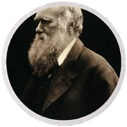 Charles Darwin By Julia Margaret Round Beach Towel