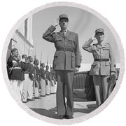 Charles De Gaulle In Carthage Tunisia 1943 Round Beach Towel
