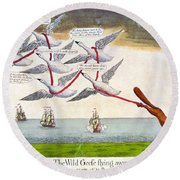 Charles Fox: Cartoon, 1782 Round Beach Towel