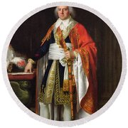 Charles Louis Francois Letourneur 1751-1817 1796 Oil On Canvas Round Beach Towel