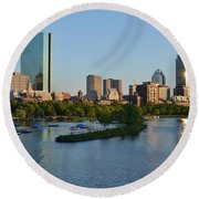 Charles River Reflection Round Beach Towel