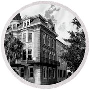 Charleston Corner Charleston Sc Round Beach Towel by William Dey