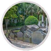 Charleston Graveyard Round Beach Towel