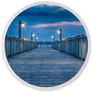 Charleston Harbor Round Beach Towel