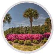 Charleston In The Spring Round Beach Towel