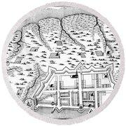 Charleston: Plan, 1704 Round Beach Towel