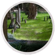 Charleston Sc Graveyard Round Beach Towel