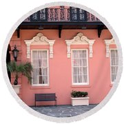 Charleston South Carolina - The Mills House - Art Deco Architecture Round Beach Towel