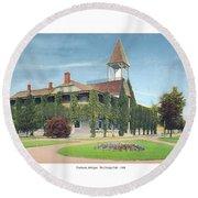 Charlevoix Michigan - The Chicago Club - 1908 Round Beach Towel