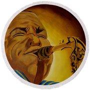 Charlie Parker-legends Of Jazz Round Beach Towel