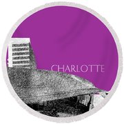 Charlotte Nascar Hall Of Fame - Plum North Carolina Round Beach Towel