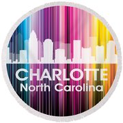Charlotte Nc 2 Round Beach Towel by Angelina Vick