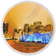 Charlotte Nc Usa - Charlotte Skyline Near R Round Beach Towel