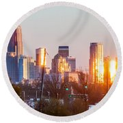 Charlotte Skyline In The Evening Before Sunset Round Beach Towel