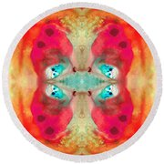 Charmed - Abstract Art By Sharon Cummings Round Beach Towel