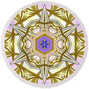 Charming Intuition Round Beach Towel