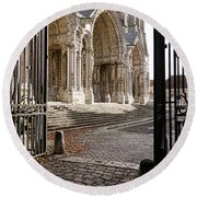 Chartres Cathedral North Transept Round Beach Towel
