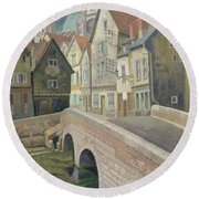 Chartres Round Beach Towel