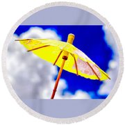 Chase The Clouds Away Round Beach Towel