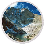 Chasm Lake Round Beach Towel