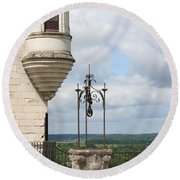 Chateau Baywindow And Well Round Beach Towel