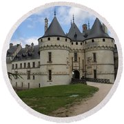 Chateau Chaumont Steeples Round Beach Towel